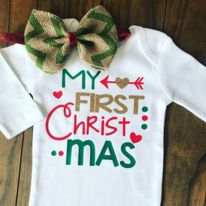 Other - 3 month onesie with matching bow